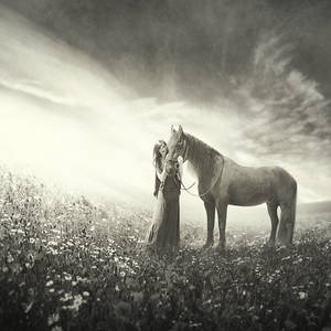 beauties with the horse by YvetteStar