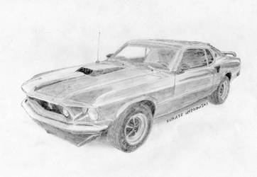 Ford Mustang Mach 1 '69 by Lew-GTR