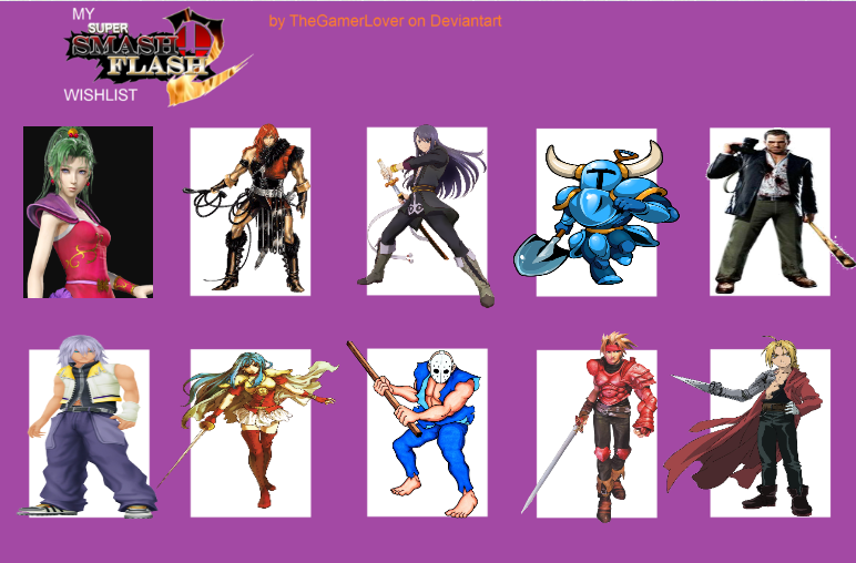 My Top 10 Newcomers for Super Smash Flash 2 by Khfan-D98 on
