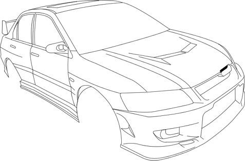 Vector Outline Of CWest Evo8 7074887
