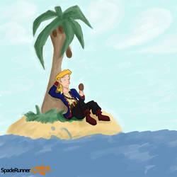 Guybrush on an Island by Cinos-Hedgean