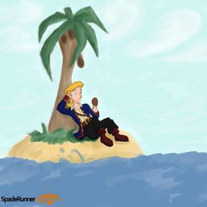 Guybrush on an Island