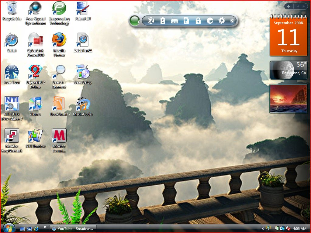 Cloud Terrace - Desktop Screen by Susan-MaryTestfans