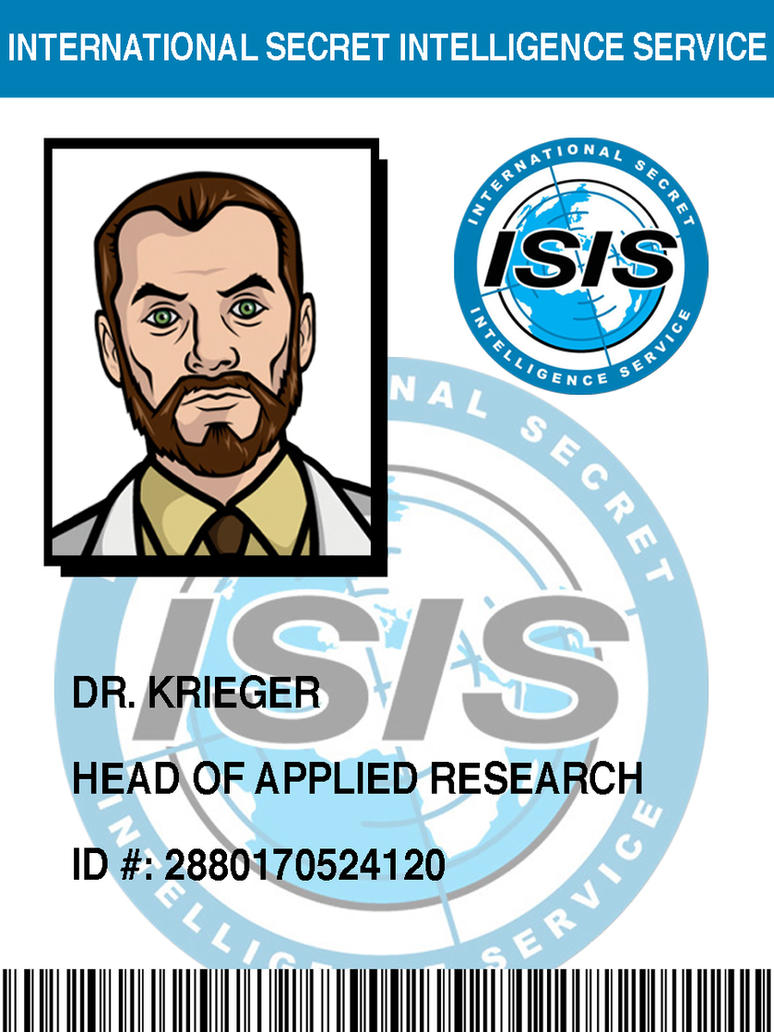 ISIS Badge: Doctor Krieger by pinkfizzypops