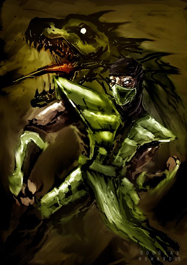Reptile mortal kombat drawing