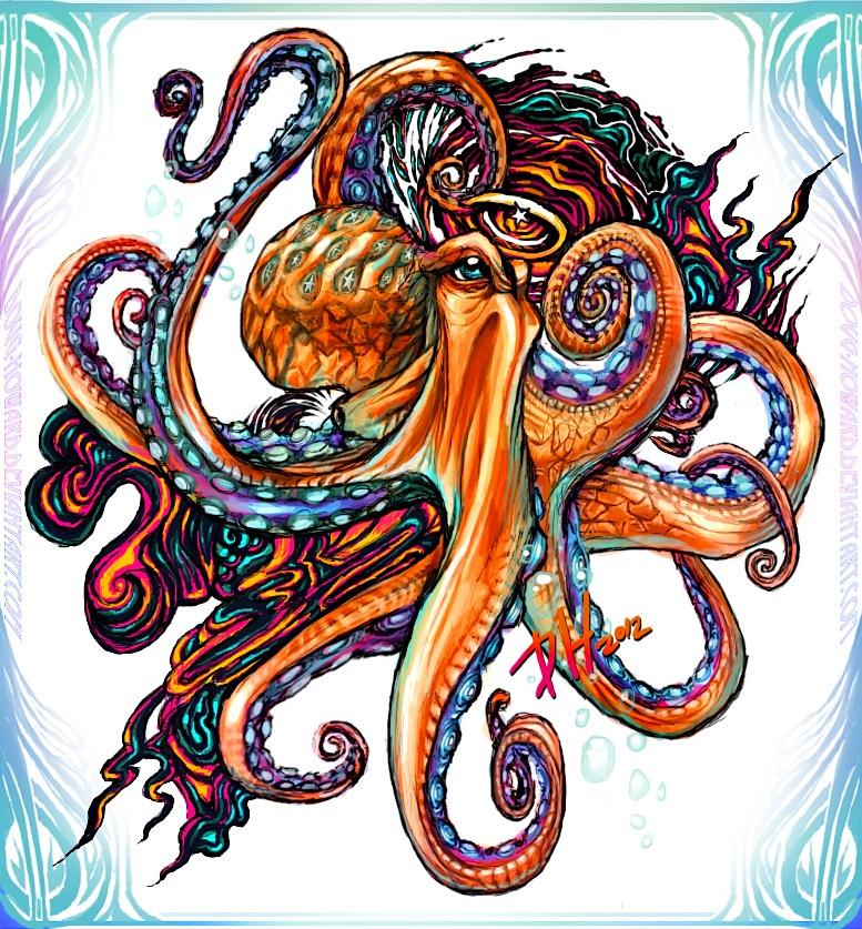 octopus ink by doug howard on deviantart. Black Bedroom Furniture Sets. Home Design Ideas