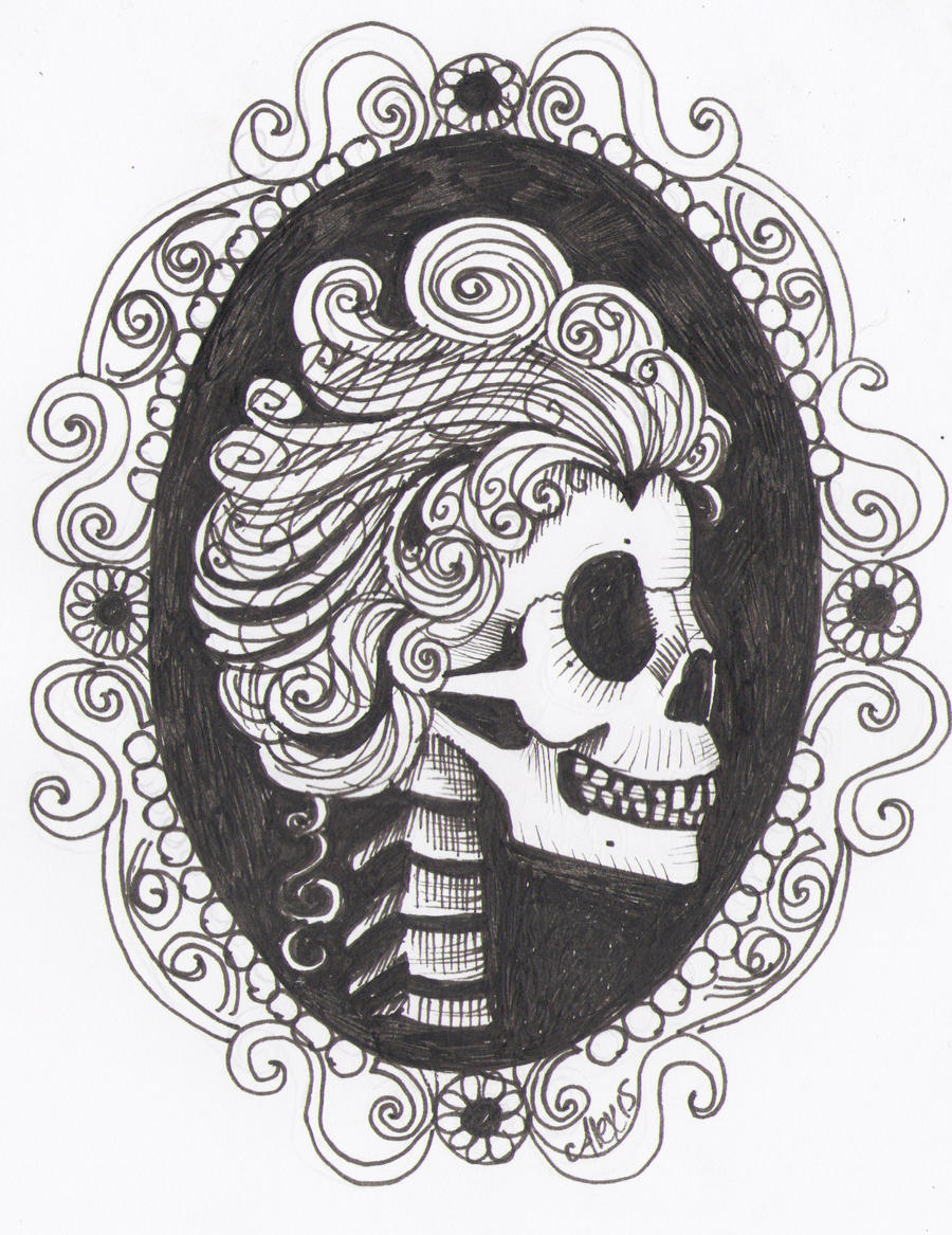 Skull Cameo Tattoo Designs