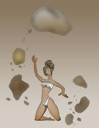 Rock Elemental Lady by JoxinToxin