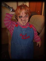 Rough draft of me as Chucky by JonnyNova