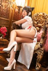 cheongsam Atago from Azur Lane cosplay