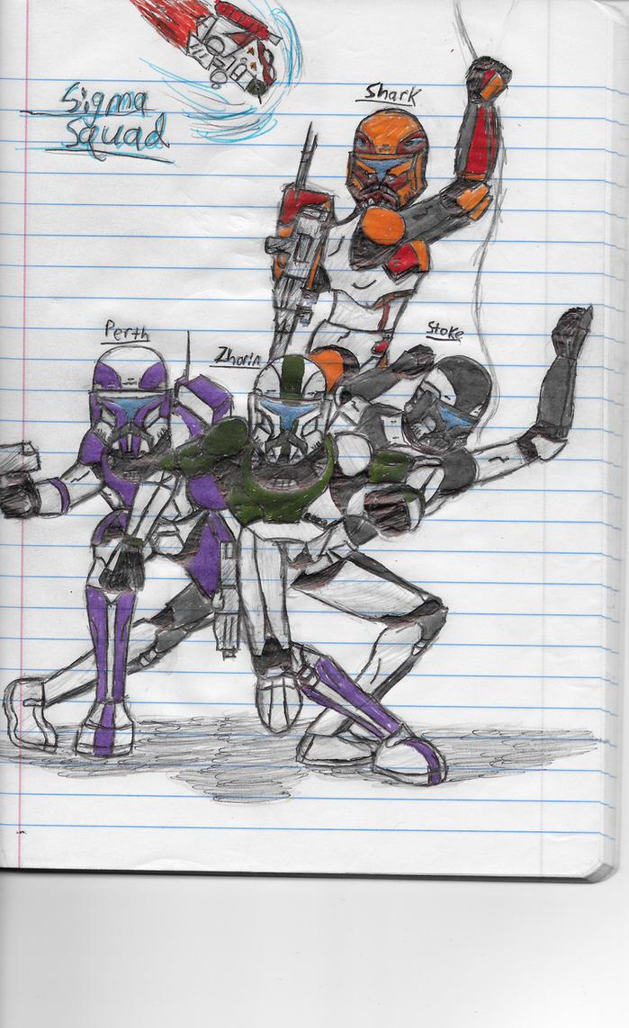 Sigma Squad (Deltaturtle's Republic Commandos) by RC-5968Frank