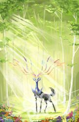 Xerneas by CrowParty