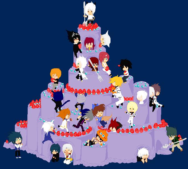 Bleach Oc Hakugin Jin By Sarzill On Deviantart: The Cake Of My Fav Anime Guys By YokoBaru On DeviantArt