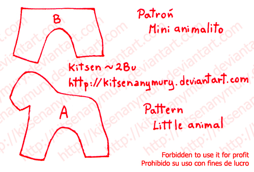 Little Animal Plush Basic Pattern by KitsenAnyMury