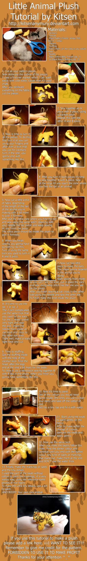 Tutorial: Little Animal Plush by KitsenAnyMury