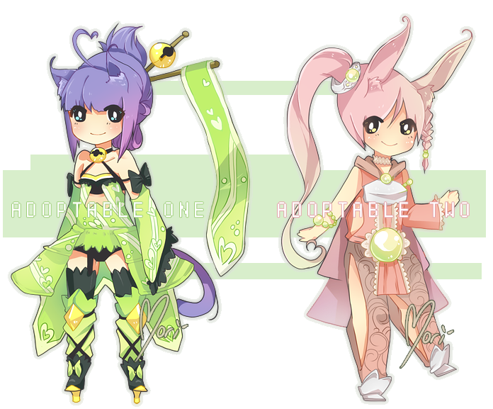 (CLOSED) Adoptable: Fantasy Kitty/Bunny by morigamii