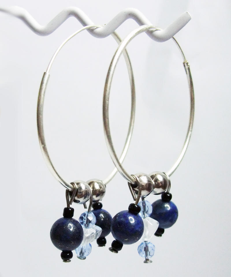 True Blue Hoop Earrings by MyArtself