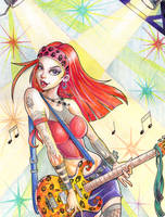 Superstar Rocker Girl - by Go-Dark