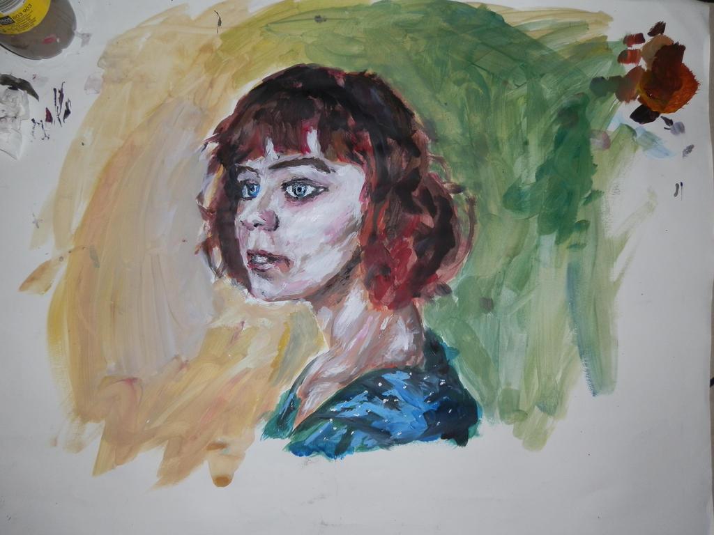 first painted portrait attempt