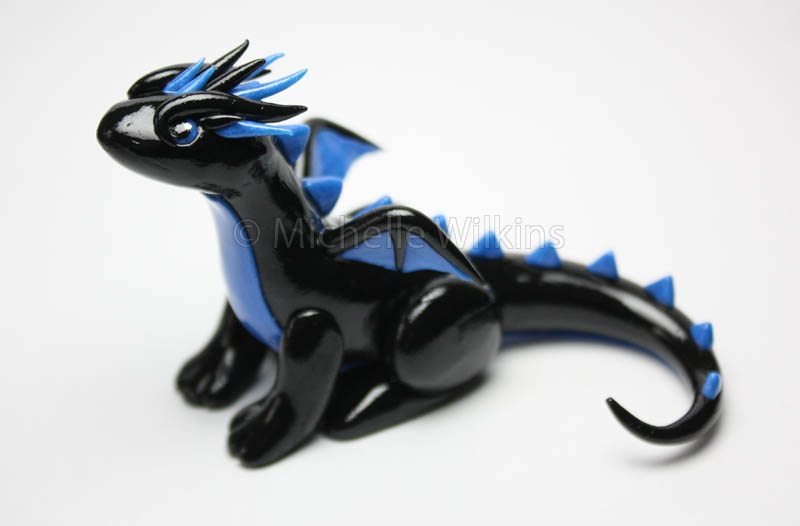 Blue and Black Dragon by DragonsDust
