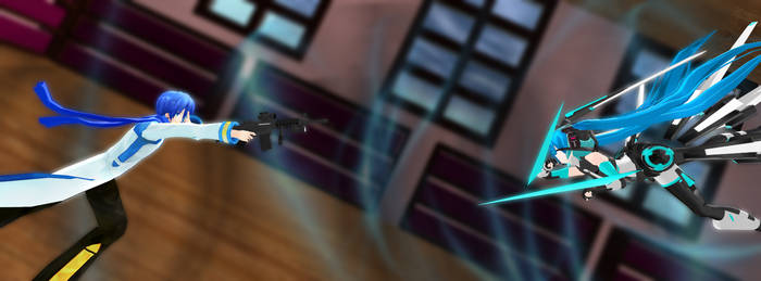 Kaito Clone VS Miku by Ryukrieger