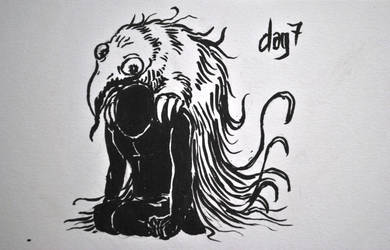 Inktober day 7: anxiety