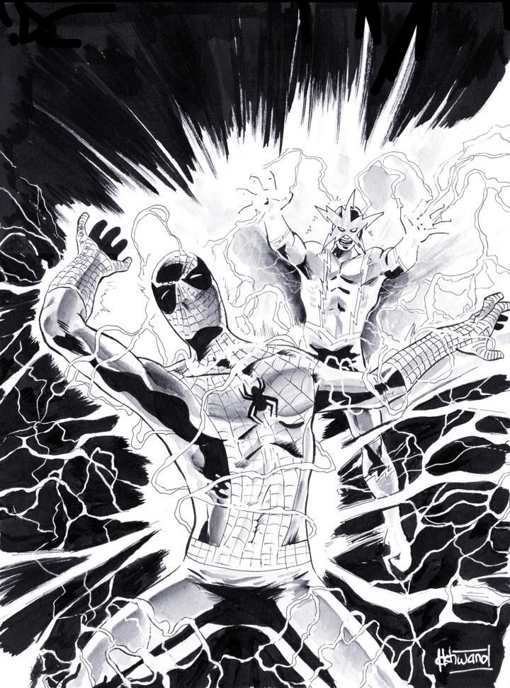 Spidey vs Electro by ickhwano