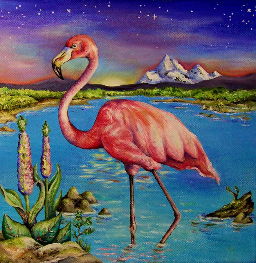 Lone Flamingo by callum8am