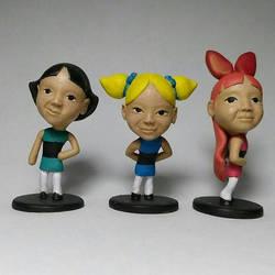 Custom heads Chibi Powerpuff Girls  by pitetsim