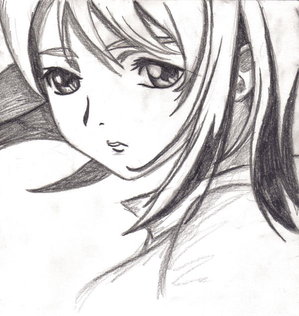 Best Anime Girl Sad Alone Pencil Sketch