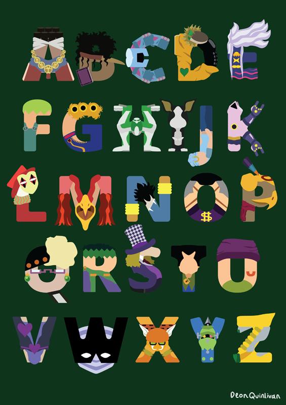 JoJos Bizarre Alphabet by DeonQuinlivan