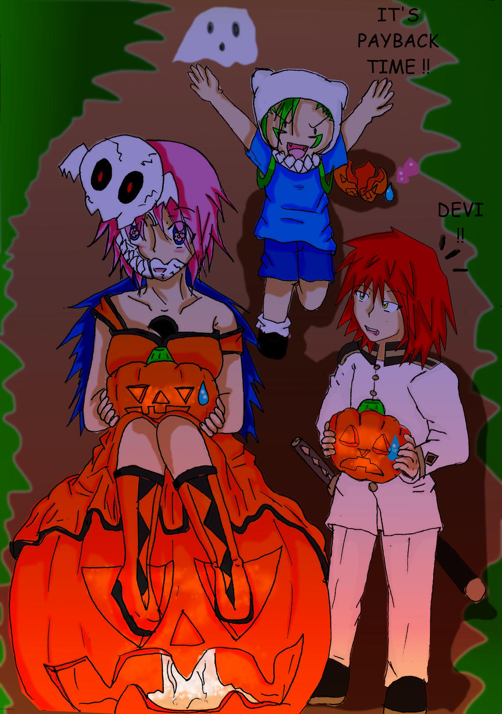 happy Halloween 2  pumpkin time by sephiroth72603