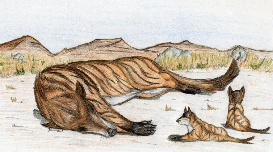 Sleeping Andrewsarchus mother by thylobscene