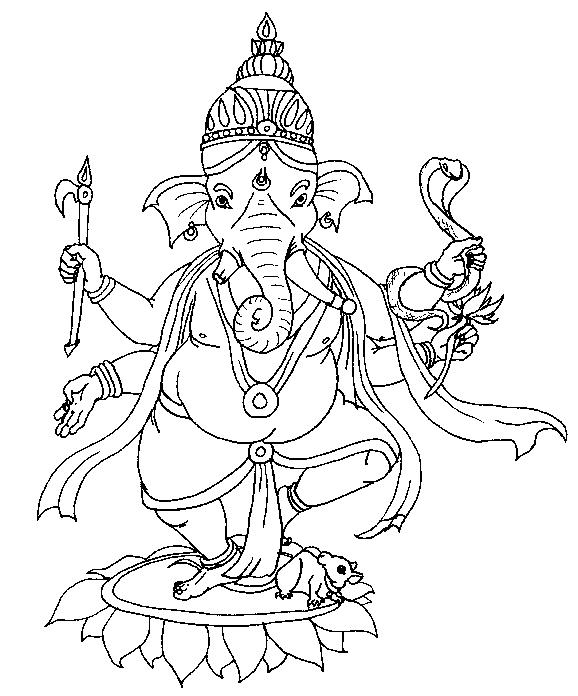 Line Art Ganesh Images : Ganesh line drawing