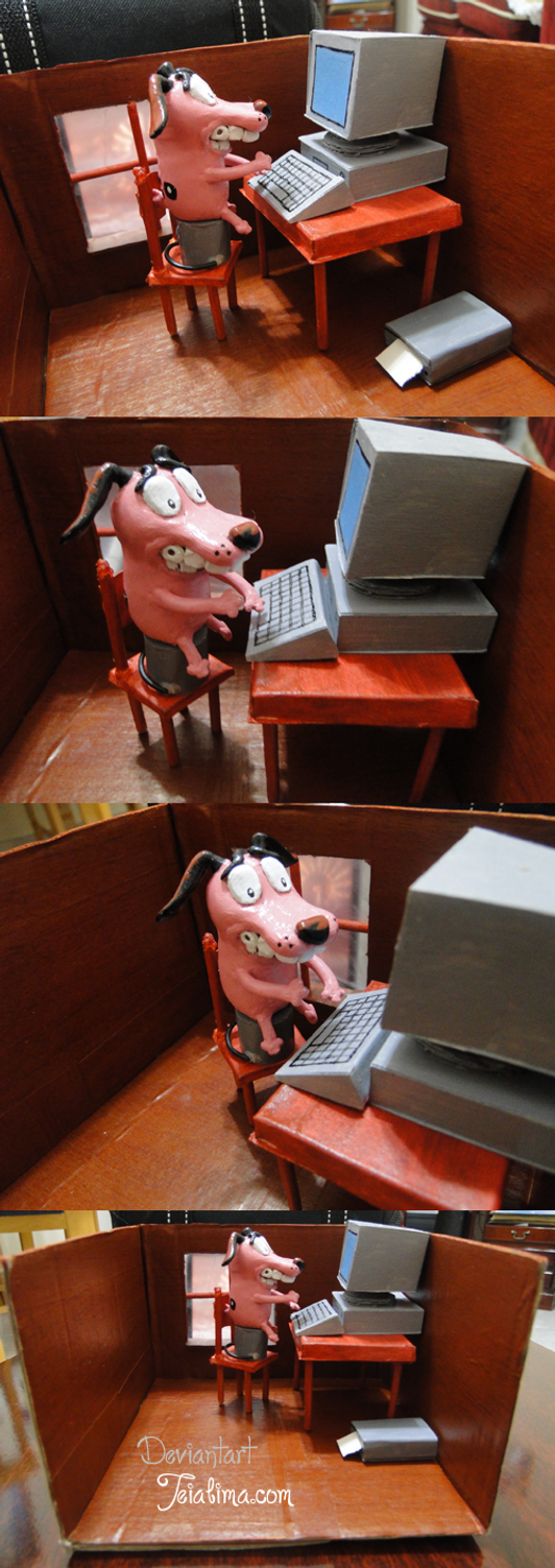 courage the cowardly dog  computer by teialima on deviantart