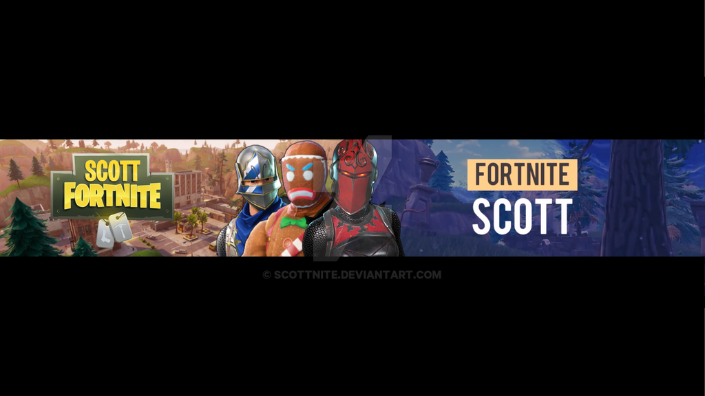 My Old Youtube Fortnite Banner By Scottnite On Deviantart