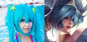 Sona Pool Party Reference Cosplay by DidyPineapple