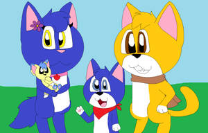 The Meow Cat Family by LisaDots123