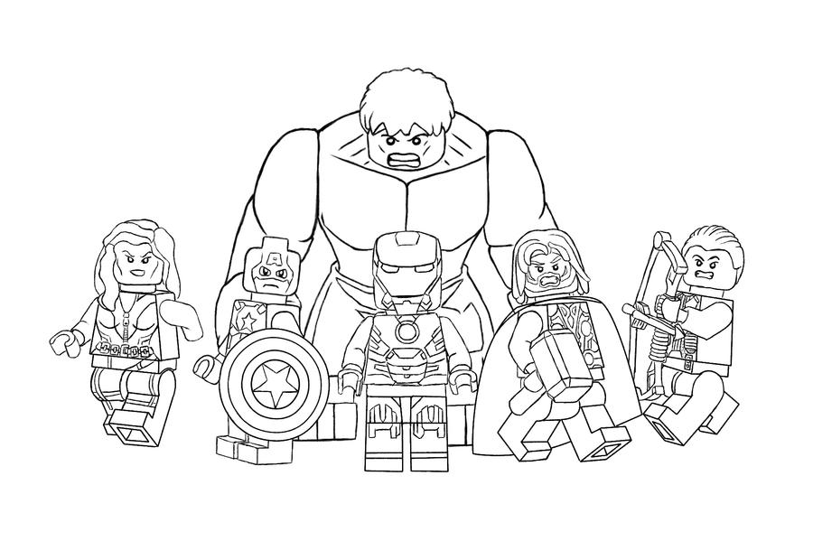 Avengers Christmas Coloring Pages : Lego avengers free coloring pages