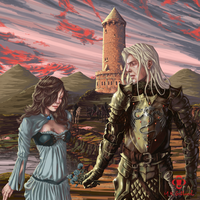 Lyanna Stark and Rhaegar Targaryen by mrgotland