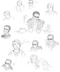 Good Omens sketches by Tuinen