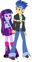 Flash and Twi are holding hands