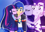 Flash and Twi_kissing the cheek