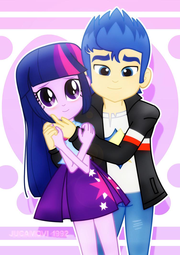 Flash_Twilight_Valentine's hug. by jucamovi1992