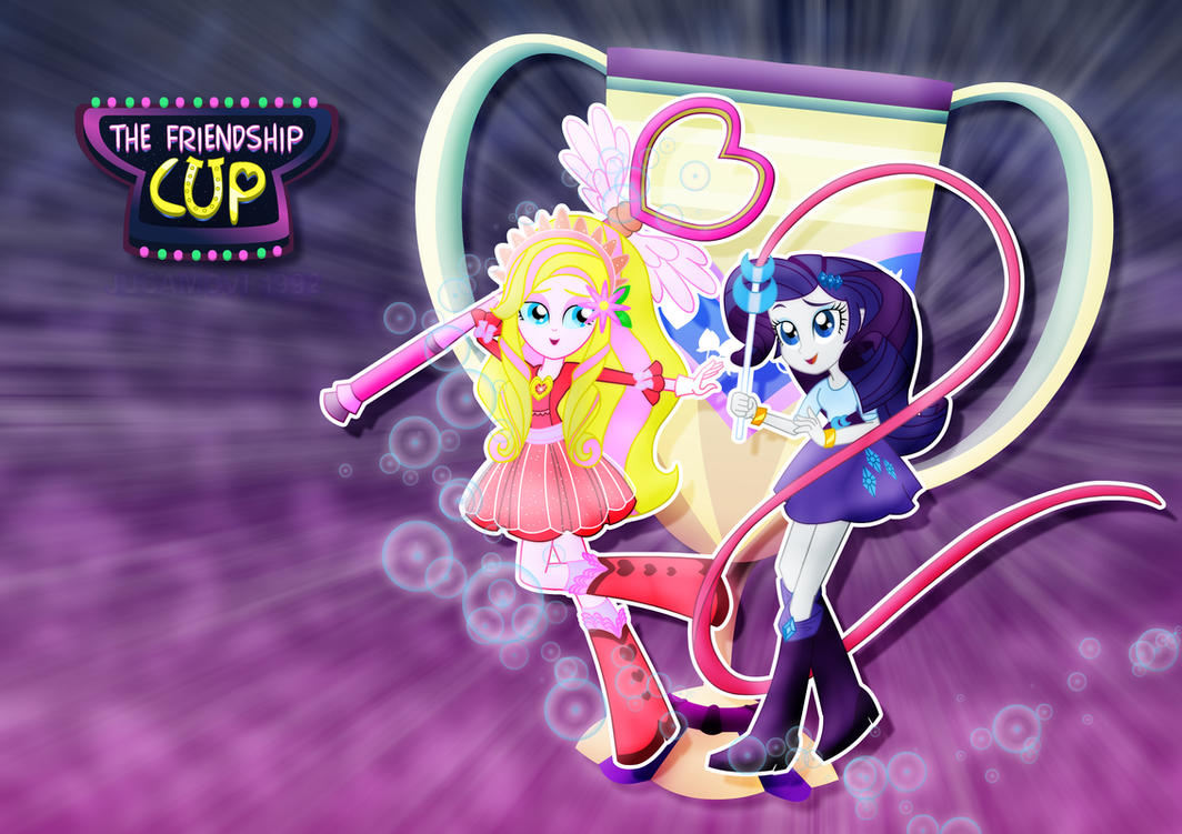 Friendship Cup Rarity and Aphrodite by jucamovi1992