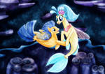 Princess Skystar and Flash Sentry dancing