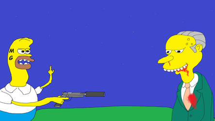 Homer snaped and killed Mr.Burns by CrazyHombre