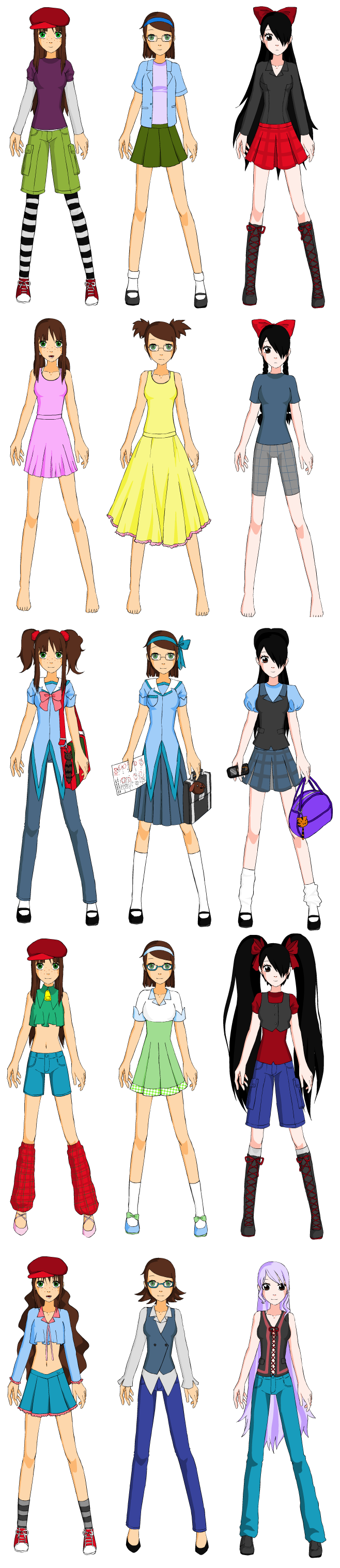 Anime Girl Clothes Designs Dress – Fashion dresses