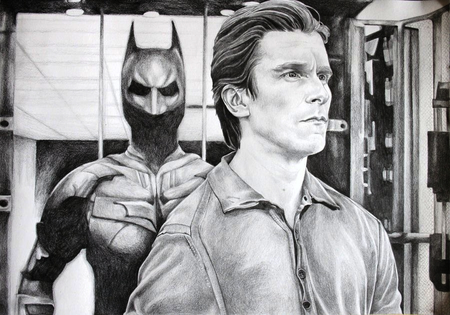 Christian Bale's Bruce Wayne by RobynTrower