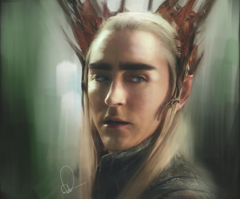 dibujos - el Hobbit  impresionantes dibujos King_of_the_woodland_realm_by_robyntrower-d7gq8ng